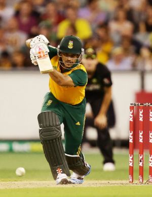 Up for the chase: J. P. Duminy produced a 256-run partnership with David Miller.