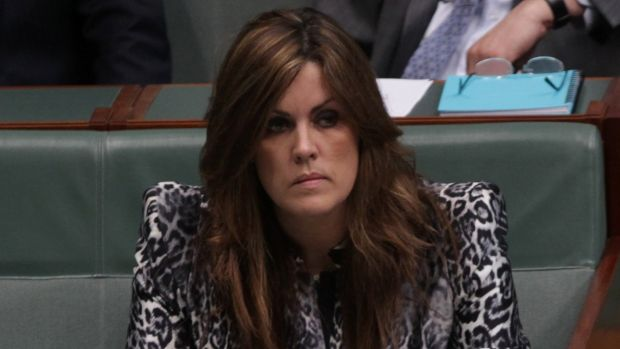 Prime Minister Tony Abbott's chief of staff, Peta Credlin, in the House of Representatives.