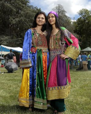 Adiba Farhadi of Palmerston and her daughter in traditional Afghan dress.