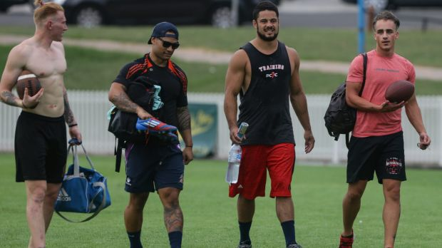 Scrutinised: Hayne was supervised by renowned sprint coach Roger Fabri.