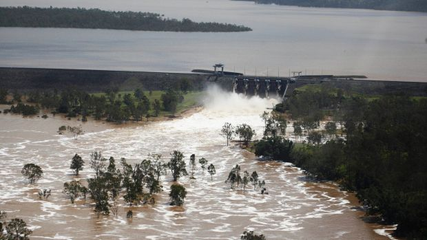 Wivenhoe Dam Brisbane has been topped up by ex-Cyclone Marcia.
