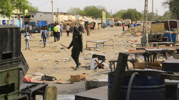 A file photo of the streets of Malakal, north of the South Sudanese capital of Juba. War and famine have engulfed South ...