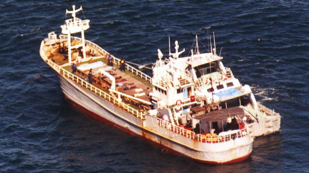 The freight ship Uniana, which was used to transport 390 kilograms of heroin from south-east Asia to Port Macquarie.