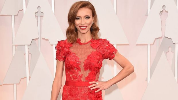 Under fire: TV personality Giuliana Rancic attends the 87th Annual Academy Awards.
