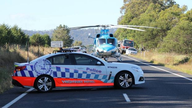 The Snowy Hydro SouthCare Helicopter transferred the man to the Canberra Hospital in a critical condition.