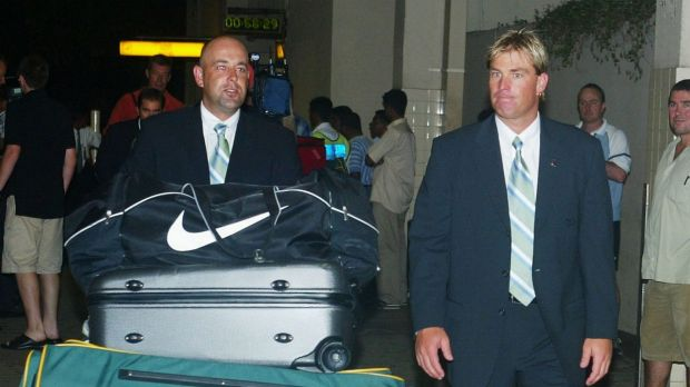 Shane Warne and Darren Lehmann in 2004.