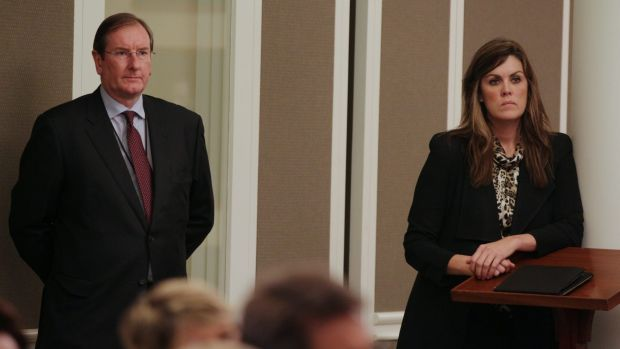 Liberal Party Federal Director Brian Loughnane and Peta Credlin, Chief of Staff to Tony Abbott in 2013.