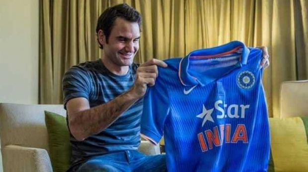 Good and bad: A Facebook pic of Roger Federer with an India cricket shirt has not been received well by Pakistan fans.