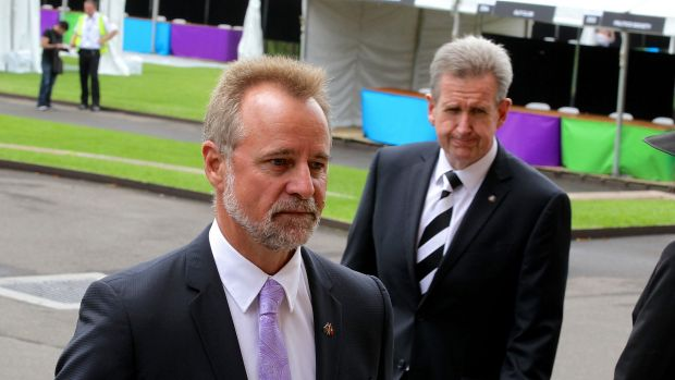 Indigenous Affairs Minister Nigel Scullion and former NSW premier Barry O'Farrell.