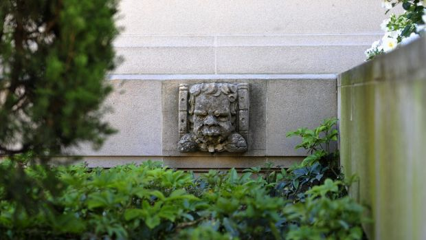 One of the two indigenous gargoyles at the Australian War Memorial.