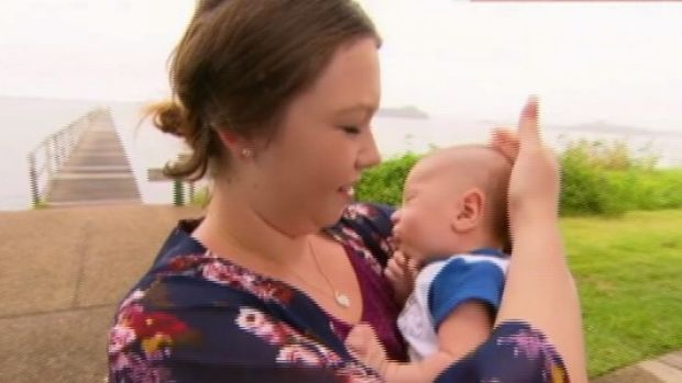 April-lee Gillen and her son, Jacobie.