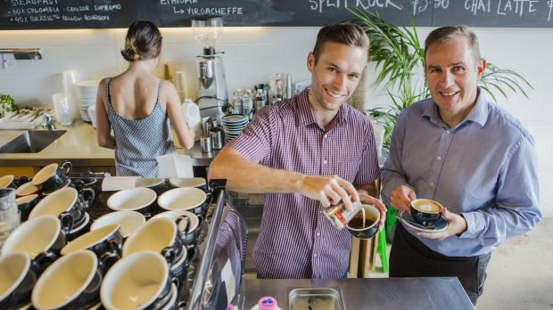 Lava Espresso Bar owner Lincoln Fairleigh and Heart Foundation ACT chief executive Tony Stubbs: The LiveLighter ACT ...