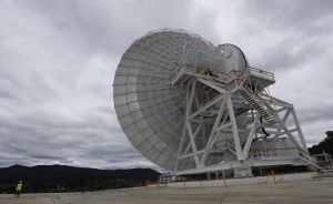 Canberra's new $55 million DSS35 antenna is 34 metres in diameter. It could one day capture mankind's first steps on Mars.