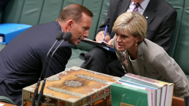Prime Minister Tony Abbott and Foreign Affairs Minister Julie Bishop are believed to share concerns over China's ...