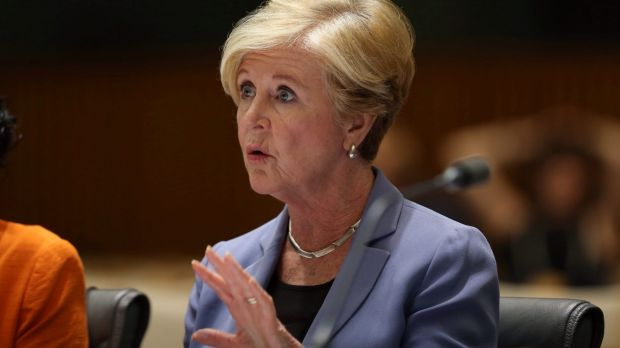 Australian Human Rights Commission president Gillian Triggs appears before a Senate estimates committee on Tuesday.