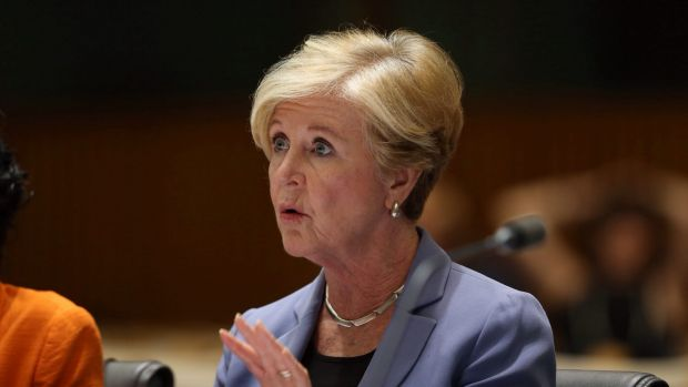 """Gillian Triggs, president of the Human Rights Commission, is accused of trying to """"stitch up the government""""."""