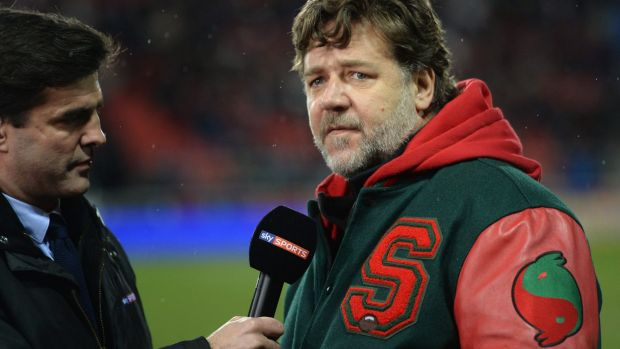 Life-long fan: Russell Crowe has followed Leeds United since his school days.