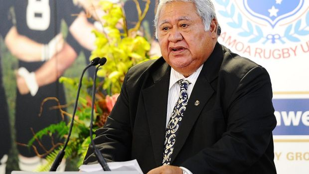 Stinging words: Samoan PM Tuilaepa Sa'ilele has come out swinging at his country's 'lazy' sevens players.