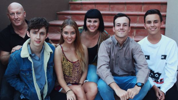 Snap: (from left) the Mellet family: Shaun, Troye, Sage, Laurelle, Steele and Tyde.