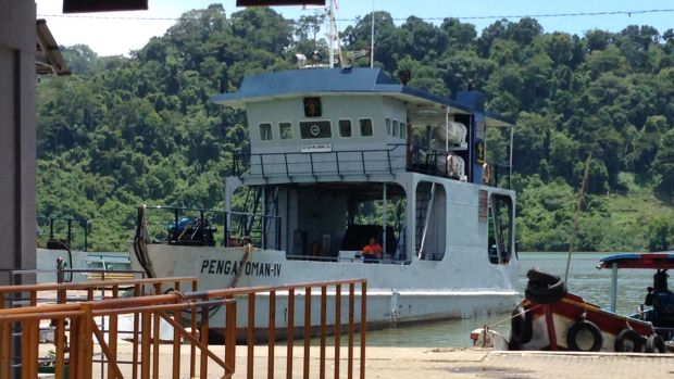 The ferry that will transport the death-row prisoners to Nusakambangan island.
