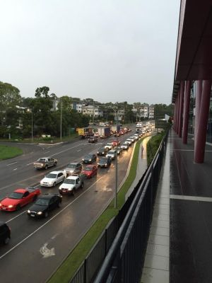 A burst water main has caused traffic chaos in Brisbane's east.