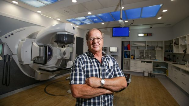 Tommy Raudnoukis inside the state of the art Coogee radiation bunker at Prince of Wales hospital