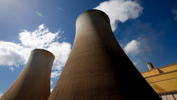 The Hazelwood Power Station in the Latrobe Valley, Victoria, perhaps the dirtiest power station in the world, is an ...