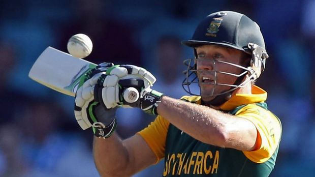 As easy as AB de Villiers: The South African captain scored a superb century at the SCG on Friday.