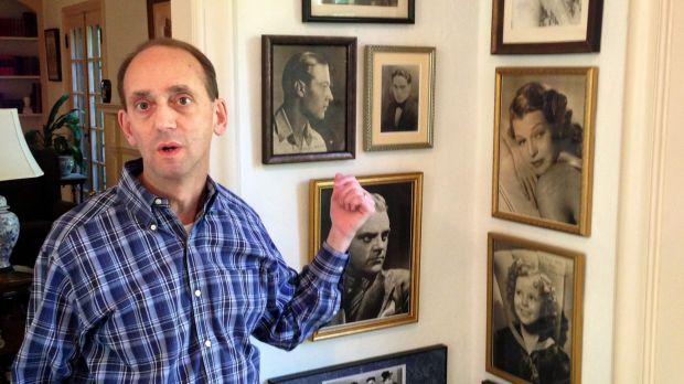 Died at home ... Missouri Auditor Tom Schweich shows off some of the movie-star photos in his collection of autographed ...