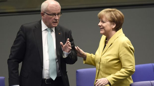 German Chancellor Angela Merkel is facing some dissent from her own party on the Greek bailout.