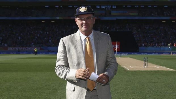 One of the best: Martin Crowe was inducted into the ICC Cricket Hall of Fame at Eden Park.