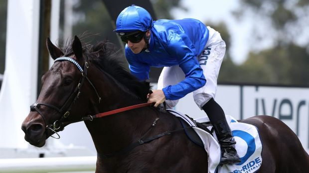 Favourite: James McDonald rides Exosphere to victory at Warwick Farm in February.