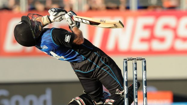 Dodging a bullet: New Zealand hung on to win by just one wicket.