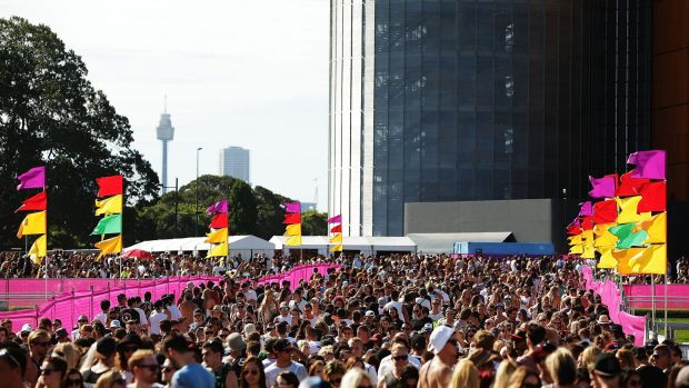 Revellers were out in force at Randwick's Future Music festival.