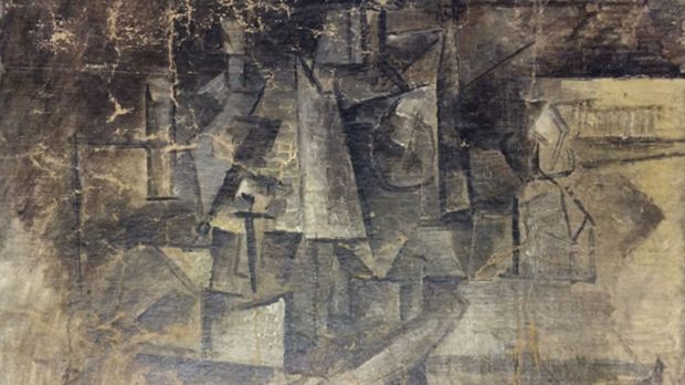 """Art-craft: 1911 painting """"La Coiffeuse"""" or """"The Hairdresser,"""" by Pablo Picasso."""