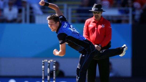 Thunderboults: Trent Boult in action on Saturday.