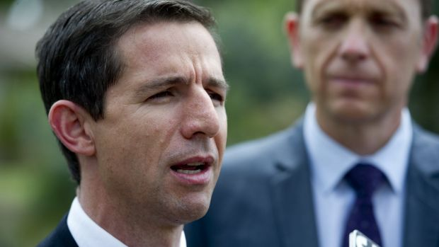 Assistant Minister for Education and Training Simon Birmingham.