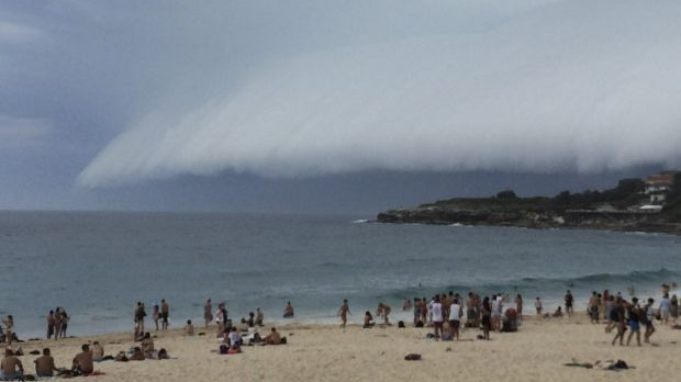Coogee Beach in Sydney's eastern suburbs was evacuated.