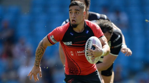 Freakish talent:  Rangi Chase playing for Salford Red Devils last season.