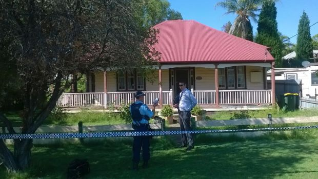 The house in Edgeworth Street, Cessnock, where a man suffered multiple stab wounds before dying.