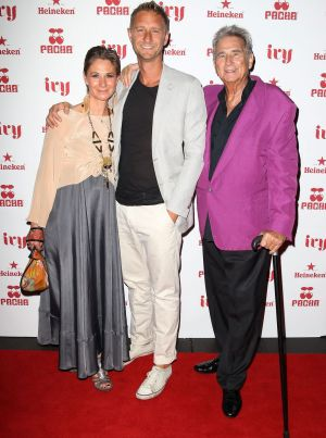 Bettina, Justin and John Hemmes at their inner city establishment The Ivy in 2012.