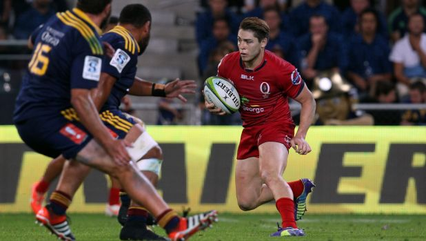 Battled at 10: James O'Connor weighs his options against the Highlanders on Saturday in Dunedin.