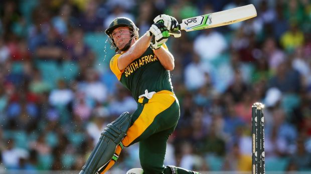 Thanks to A.B. de Villiers, South Africa made 261 in the last 20 overs against the West Indies.
