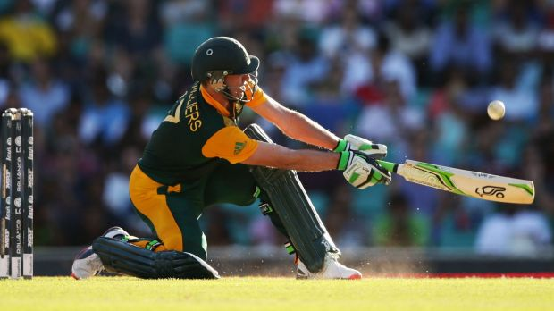 AB de Villiers of South Africa is in brilliant form.