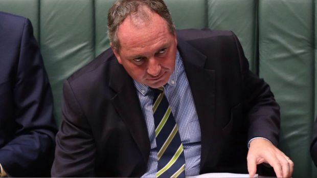 Dog threat: Barnaby Joyce.