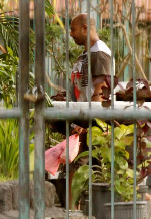 Myuran Sukumaran, one of the Bali nine duo at Kerobokan Prison.