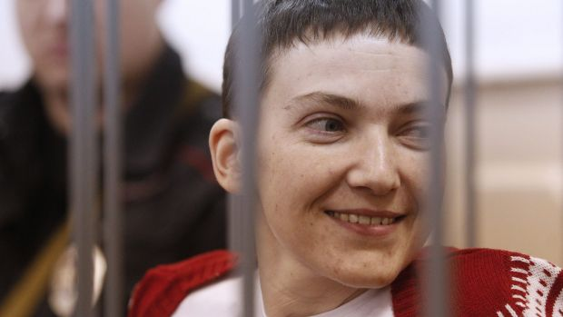 Hero of Ukraine ... Ukrainian air force officer Nadezhda Savchenko has been on a hunger strike for over two months.
