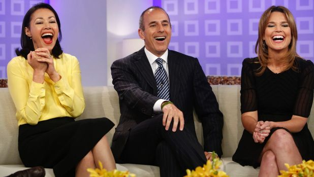 Breakfast TV bloodbath: Ann Curry with Matt Lauer before she was replaced on the <i>Today Show</i> with Savannah Guthrie.