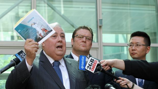Glenn Lazarus with Palmer United Party founder Clive Palmer back when they were party mates.
