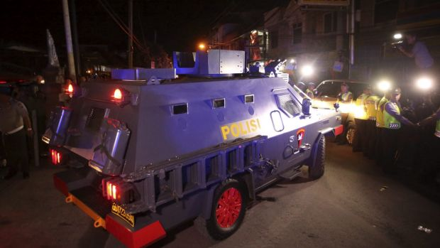 The armoured vehicle and military presence at the transfer of Andrew Chan and Myuran Sukumaran would have seemed over ...